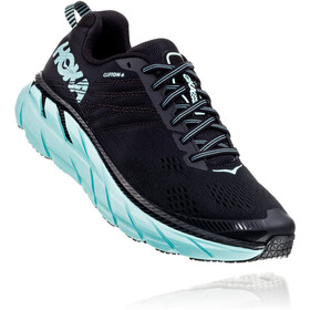 Hoka One One Clifton 6 Running Shoes Damer, black/aqua sky
